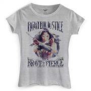 Camiseta Feminina Wonder Woman Fight For Justice