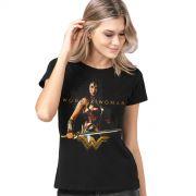 Camiseta Feminina Wonder Woman Warrior For a Peace