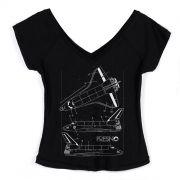 Camiseta Gola V Feminina Fresno Shuttles