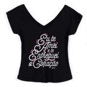 Camiseta Gola V Feminina Zé Felipe Eu Te Amei