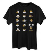 Camiseta Unissex Gudetama Many Poses