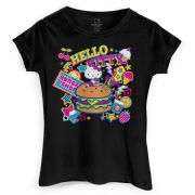 Camiseta Hello Kitty Burguer Shop