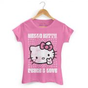 Camiseta Hello Kitty Peace & Love