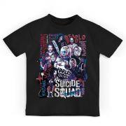 Camiseta Infantil Esquadr�o Suicida Cast
