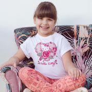 Camiseta Infantil Hello Kitty Melhor Filha do Mundo