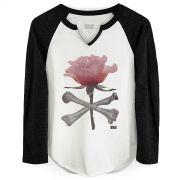 Camiseta Manga Longa Feminina 89FM A Rádio Rock Rose
