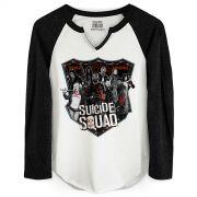 Camiseta Manga Longa Feminina Esquadr�o Suicida Deniable Expendable