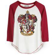 Camiseta Manga Longa Feminina Harry Potter Gryffindor