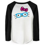 Camiseta Manga Longa Feminina Hello Kitty Fun Glasses