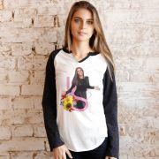 Camiseta Manga Longa Feminina Ivete Sangalo IS Girassóis