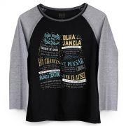 Camiseta Manga Longa Feminina Paula Fernandes Olha pra Janela