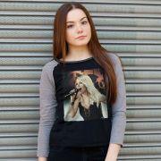 Camiseta Manga Longa Feminina Sandy Meu Canto Capa