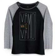 Camiseta Manga Longa Feminina Thiaguinho Hoje � Dia #Vamo