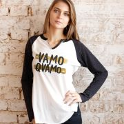 Camiseta Manga Longa Feminina Thiaguinho #VamoQVamo Gold