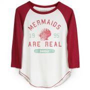 Camiseta Manga Longa Feminina TodaTeen Mermaids