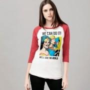 Camiseta Manga Longa Feminina We Can Do It!