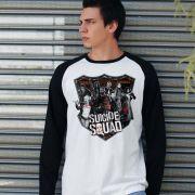 Camiseta Manga Longa Masculina Esquadrão Suicida Deniable Expendable
