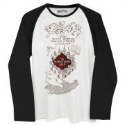 Camiseta Manga Longa Masculina Harry Potter The Marauder�s Map