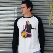 Camiseta Manga Longa Masculina Ivete Sangalo IS Girass�is
