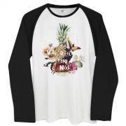 Camiseta Manga Longa Masculina Ivete Sangalo O Sol
