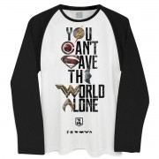 Camiseta Manga Longa Masculina Liga da Justiça You Cant Save Color