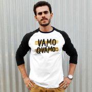 Camiseta Manga Longa Masculina #VamoQVamo Gold