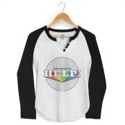 Camiseta Manga Longa Raglan Feminina The Beatles Help! 2
