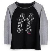 Camiseta Manga Longa Feminina TodaTeen TT Cats P&B