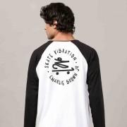 Camiseta Manga Longa Raglan Masculina Charlie Brown Jr. Skate Vibration