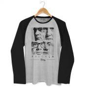 Camiseta Manga Longa Raglan Masculina Sk91 Capa
