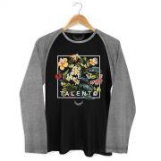 Camiseta Raglan Masculina Anitta No Meu Talento Flowers