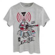 Camiseta Masculina 89FM A Rádio Rock 30 Anos Robot