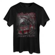 Camiseta Masculina Aerosmith Train Kept a Rolling