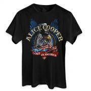 Camiseta Masculina Alice Cooper Lost in America