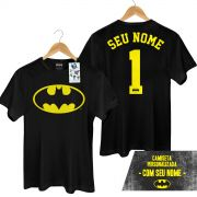 Camiseta Masculina Batman Logo Name