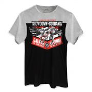 Camiseta Masculina BiColor Batman VS Superman Showdown In Gotham City