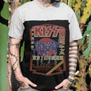 Camiseta Masculina BiColor Kiss Destroyer 78