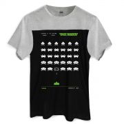 Camiseta Masculina BiColor Space Invaders Arcade