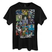 Camiseta Masculina DC Comics Villains