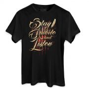 Camiseta Masculina Diablo III Stay Awhile and Listen