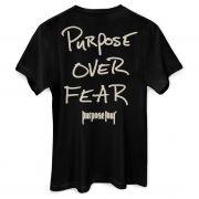 Camiseta Masculina Justin Bieber Purpose Over Fear