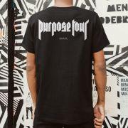 Camiseta Masculina Justin Bieber Purpose The World Tour 2017