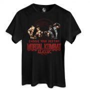 Camiseta Masculina Mortal Kombat Choose Your Destiny