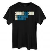 Camiseta Masculina Os Paralamas do Sucesso Sinais do Sim Logo