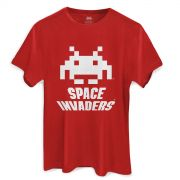 Camiseta Masculina Space Invaders Logo White