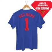 Camiseta Masculina Superman Logo Name
