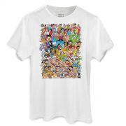 Camiseta Masculina Turma da Mônica 80 Anos Colors