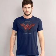 Camiseta Masculina Wonder Woman Logo Authentic