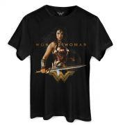 Camiseta Masculina Wonder Woman Warrior For a Peace