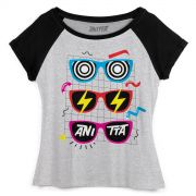 Camiseta Raglan Feminina Anitta Glasses